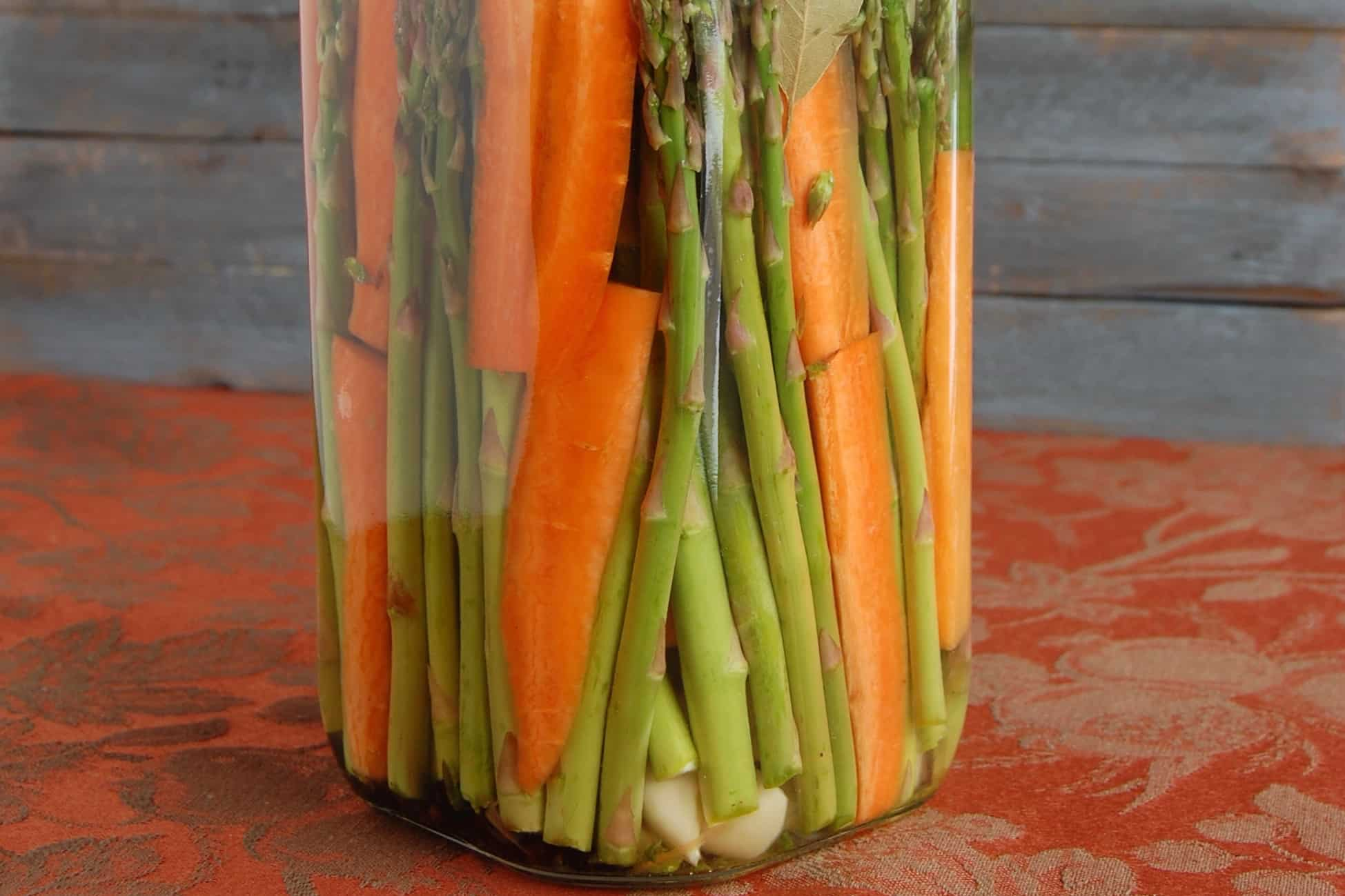 Asparagus and Carrot Pickles