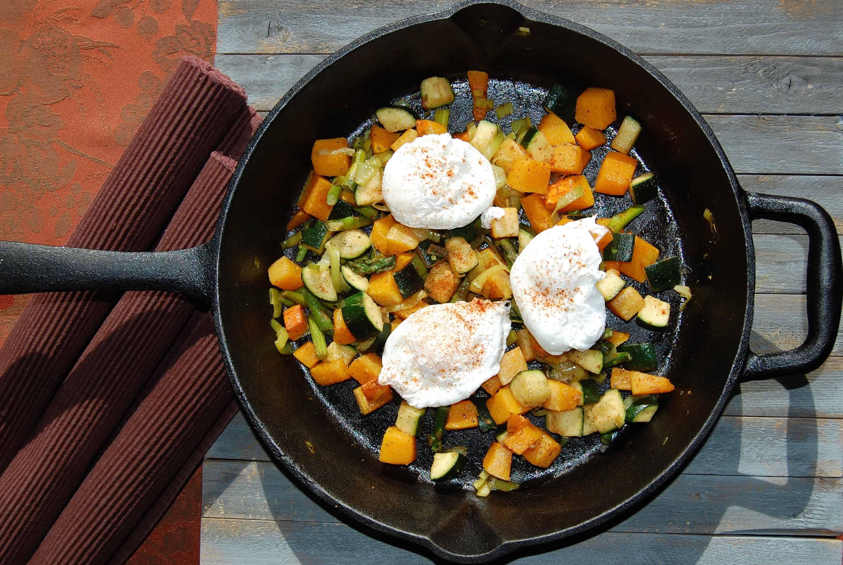 Butternut Squash and Asparagus Hash